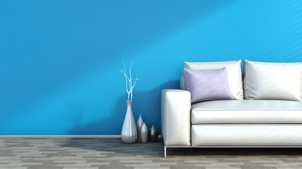 Modern interior with sofa