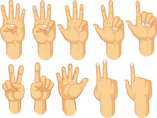 Hand Sign Collection - Counting Gestures