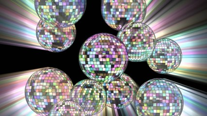Disco mirror ball 4k.