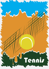 Abstract tennis poster
