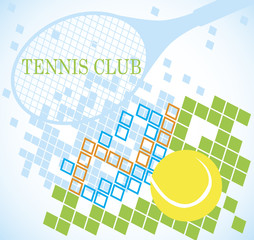 Abstract tennis banner