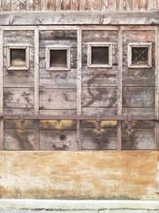 Vecchia serranda in legno di bacaro a Rialto, Venezia