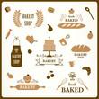 Vector Illustration of Bakery Design Elements