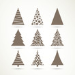Vector Illustration of Christmas Tree Icons - 68939463