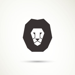 Vector Illustration of a Lion Icon