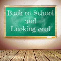 Back to school poster with chalkboard. EPS10