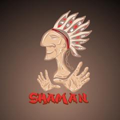 Cartoon indian shaman