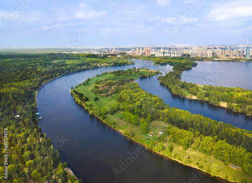 Foto op Canvas Texas River in Moscow, Russia