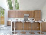 Kleine moderne Küche mit Küchentheke