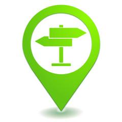 directions panneau sur symbole localisation vert
