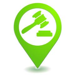 enchères sur symbole localisation vert