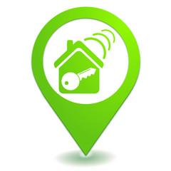 fermeture centralisée sur symbole localisation vert