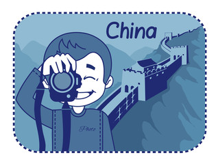 Teaser with photographer travels through China