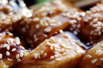 Japanese cuisine sushi rolls macro