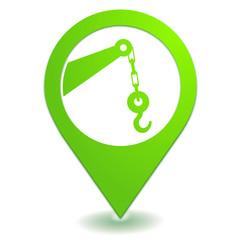 service de dépannage sur symbole localisation vert