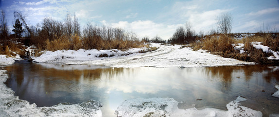 Spring creek ice water