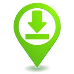 télécharger sur symbole localisation vert