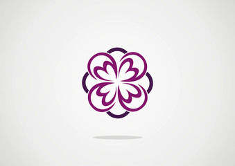 Ornamental round lace logo business
