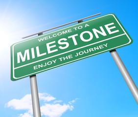 Milestone concept.