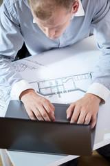 Architect making a project