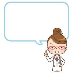 女性 医師 コピースペース