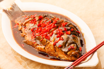 carp in sour-sweet sauce