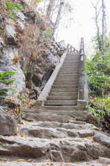 long outdoor cement steps