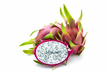 Dragon fruit ,cross section showing the skin.