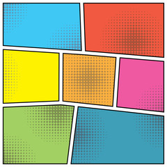 pop art style blank