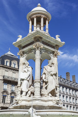 The famous Jacobin's Fountain in Lyon