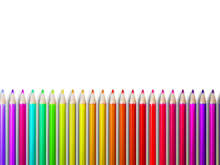 Colorful pencil crayons on white. plus EPS10