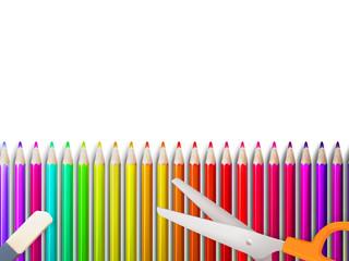 Modern school background with copyspace. EPS10