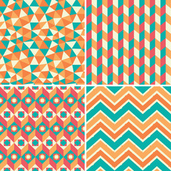 Set of geometric patterns in retro style