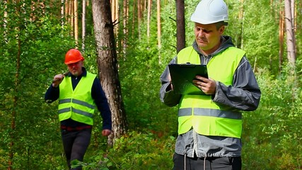 Forest Officer with folder in forest