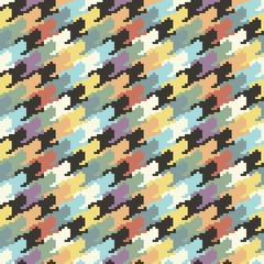 dogtooth colorful pattern