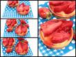 collage tartelettes aux fraises