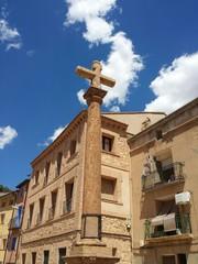 Cruz del arenal dedicada a san Félix y santa Régula.
