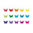 Rainbow spectrum butterfly icons. Animal symbol.
