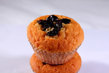 muffin isolated from othes on white background.