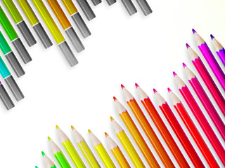Back to school with multicolored pensils. EPS10