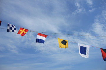 Colorful signal flags