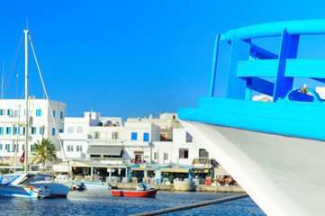 Ship closeup in the harbor, Greece