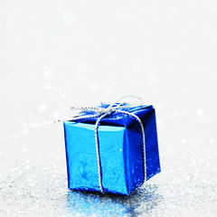 Blue holiday gift