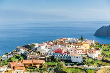 Typical Canary village on the cape of La Gomera island
