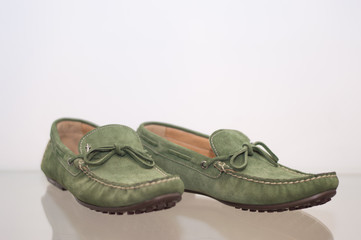 Green male loafers