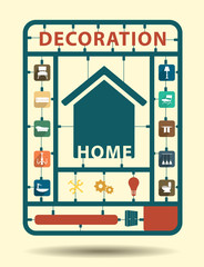 Furniture flat icons home decoration idea concept