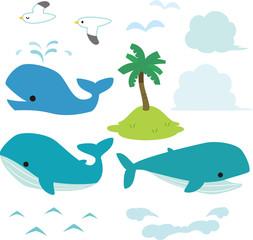 クジラと海