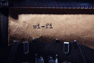 Vintage inscription made by typewriter