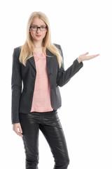 Selbstbewusste Geschäftsfrau