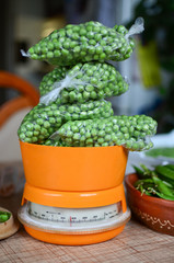 Peas on the scale